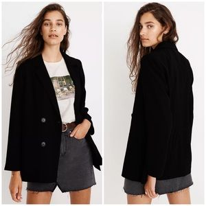 Madewell Caldwell double breasted black blazer